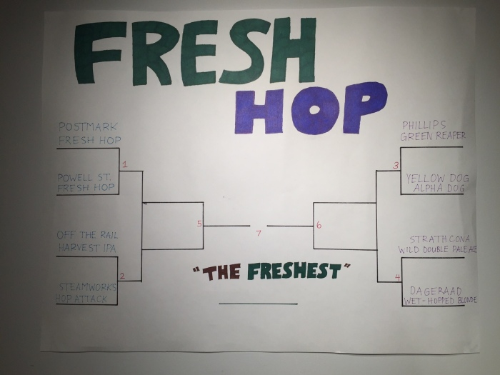 fresh hop beer bracket craft beer bc beer
