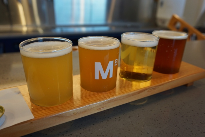 mariner brewing craft beer flight vanpours coquitlam