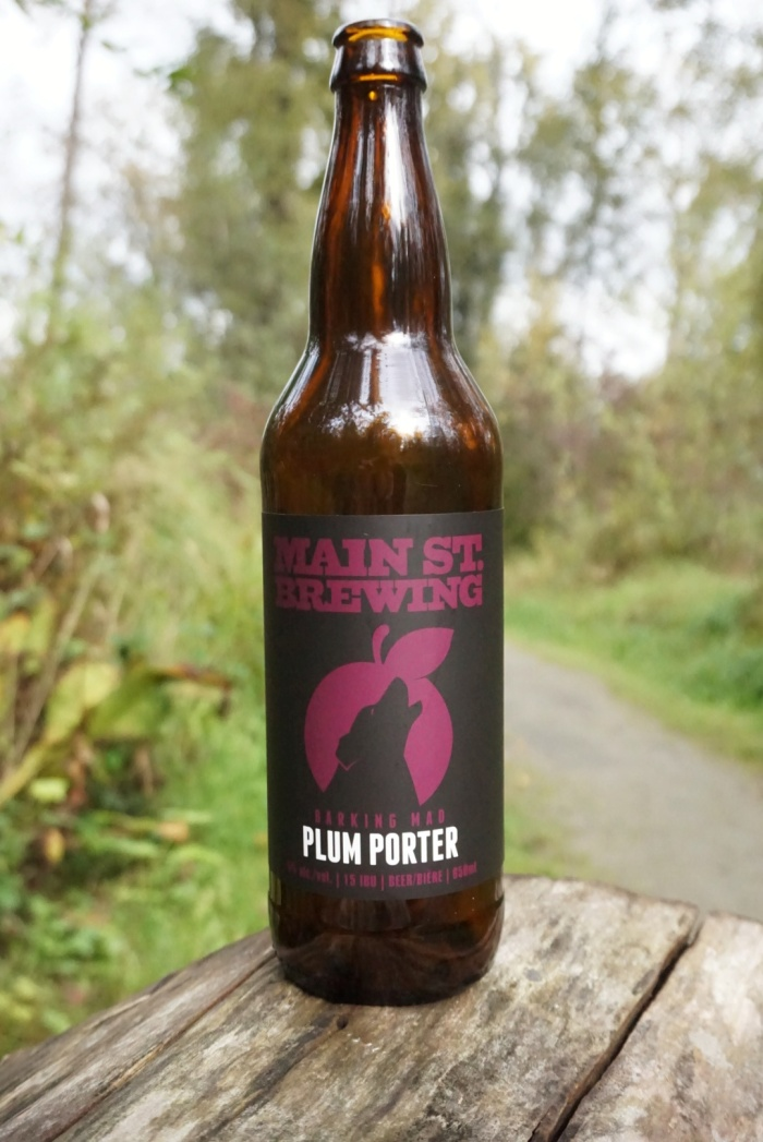 Main Street Brewing Barking Mad Plum Porter vanpours Van Pours craft beer Vancouver pouroftheweek